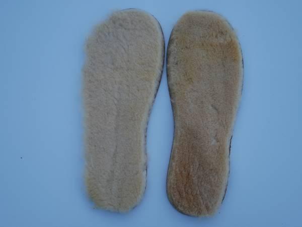 Bilde av  Lammeskinnsåler til tova tøfler, kastanje